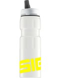 SIGG Trinkflasche 0.75 l New Active Top Sports Weiß Gelb Touch