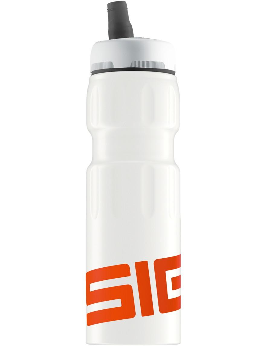 SIGG Trinkflasche 0.75 l New Active Top Sports Weiß Orange Touch