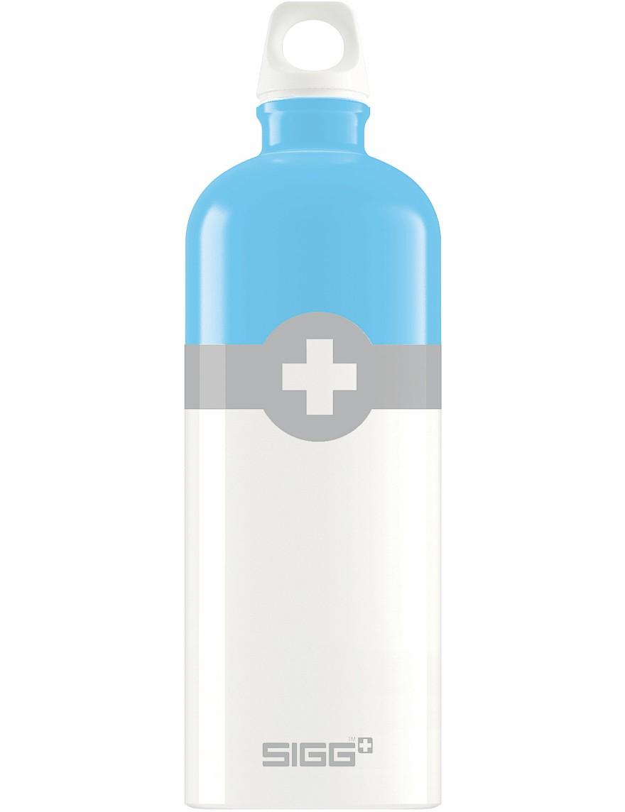 SIGG Trinkflasche 1.0 l Swiss Logo Hellblau