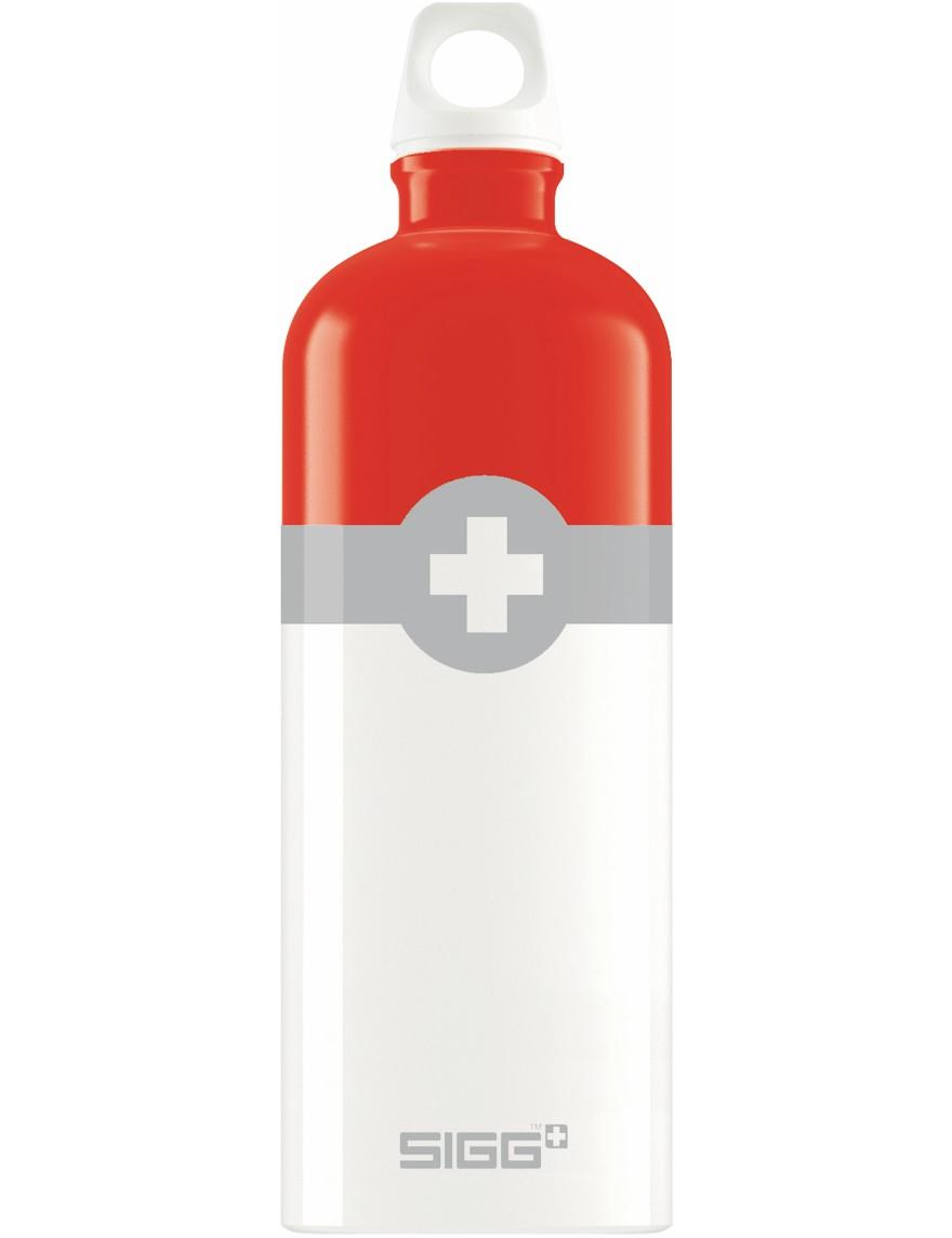 SIGG Trinkflasche 1.0 l Swiss Logo Rot