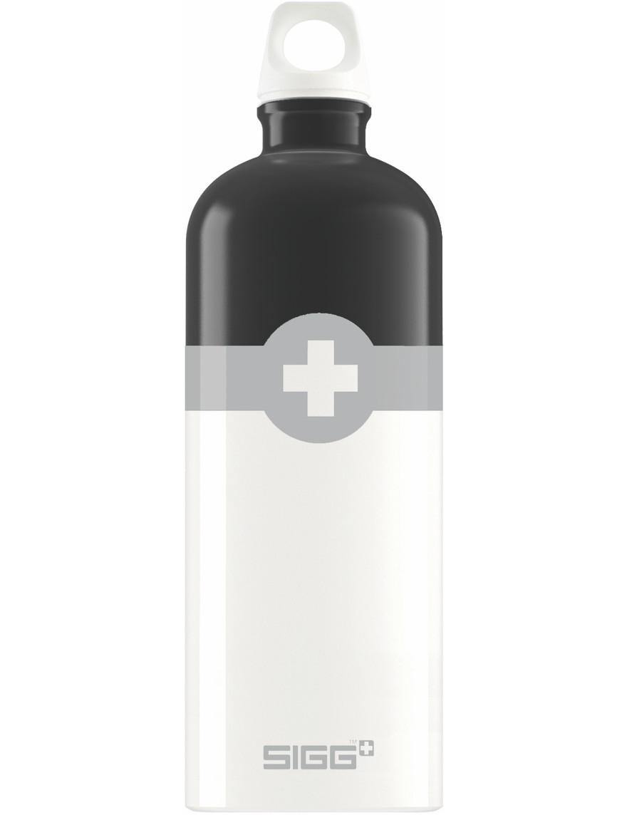 SIGG Trinkflasche 1.0 l Swiss Logo Schwarz