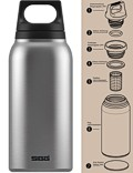SIGG »Hot & Cold« Thermosflasche Isolierflasche 0.3 L Silber