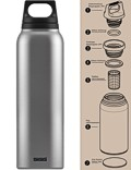 SIGG »Hot & Cold« Thermosflasche Isolierflasche 0.5 L Silber