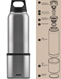 SIGG »Hot & Cold« Thermosflasche Isolierflasche 0.75 L Silber