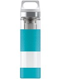 SIGG »Hot & Cold« Thermosflasche Isolierflasche 0.4 L GLASS WMB Aqua