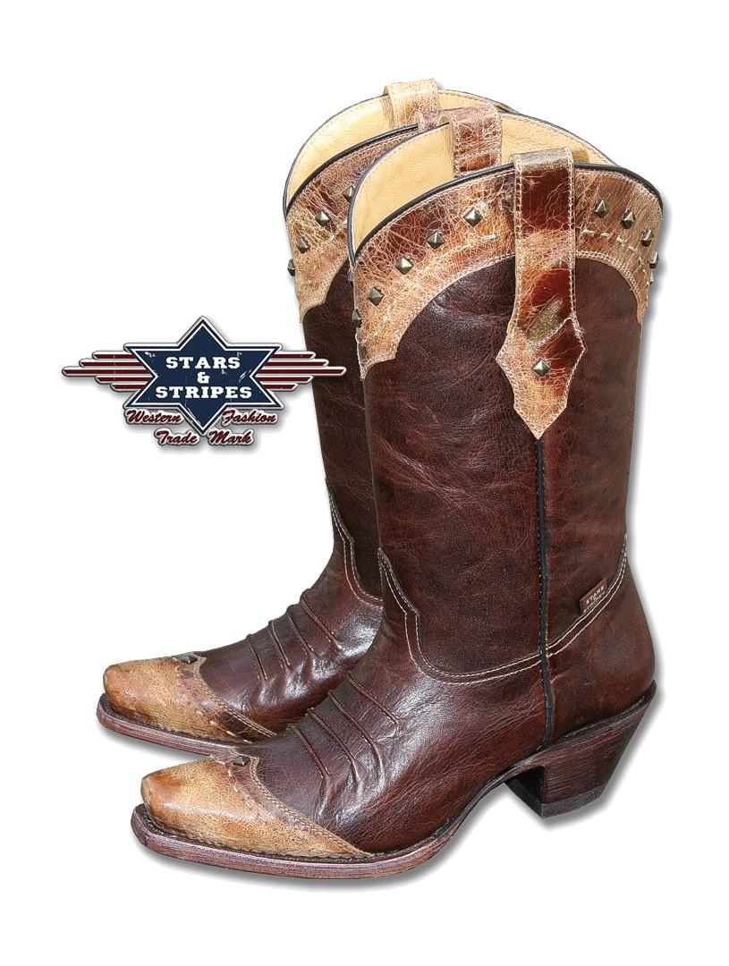Stars & Stripes Damen Western-Boots »WBL-28« Gr.36