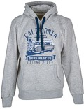 Männer Hoodie Van One VW Bulli »LAGUNA BEACH« Light Grey / Blue Gr.S