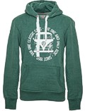 Herren Hoodie VW Bulli BULLI FACE USED New Green / White