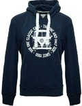 Herren Hoodie VW Bulli BULLI FACE USED Navy / White