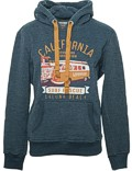 Herren Hoodie VW Bulli LAGUNA BEACH Anthracite / Orange