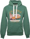 Herren Hoodie VW Bulli LAGUNA BEACH New Green / Orange Gr.M