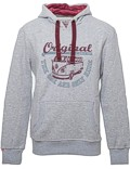 Herren Hoodie VW Bulli ORIGINAL RIDE Light Grey / Bordeaux Grey