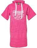 Surf Poncho VW Bulli »ORIGINAL RIDE« Pink / White
