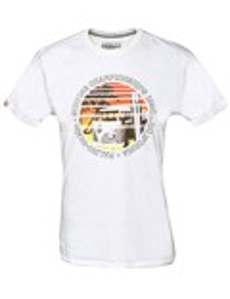 Herren T-Shirt VW Bulli MALIBU BEACH Weiß