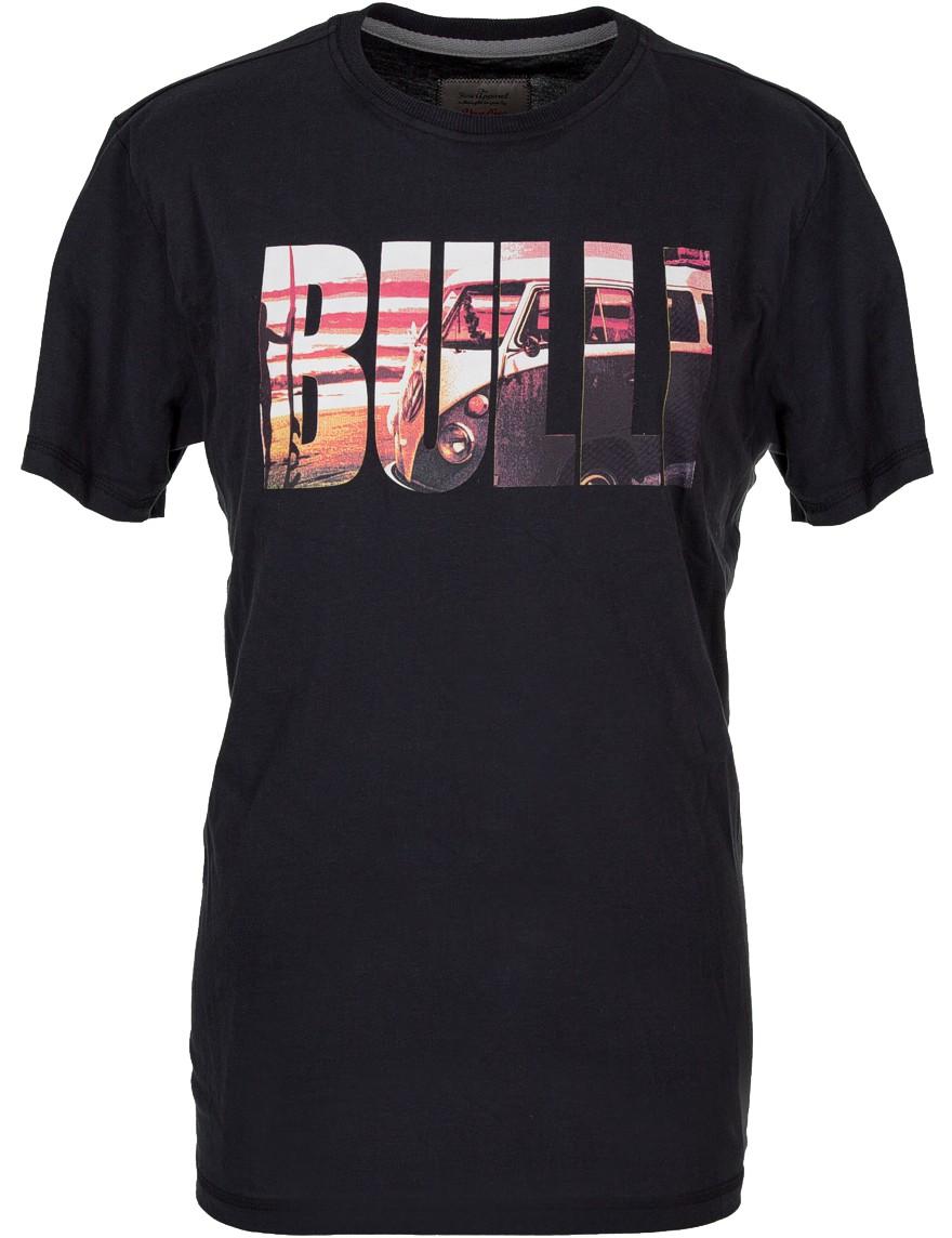 Herren T-Shirt VW Bulli BULLI BLOCK Schwarz