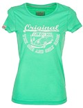 Damen T-Shirt Van One VW Bulli »ORIGINAL RIDE« Apple Green / White