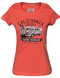 Damen T-Shirt Van One VW Bulli »LAGUNA BEACH« Apricot / Black