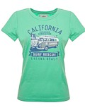 Damen T-Shirt Van One VW Bulli »LAGUNA BEACH« Apple Green / Blue