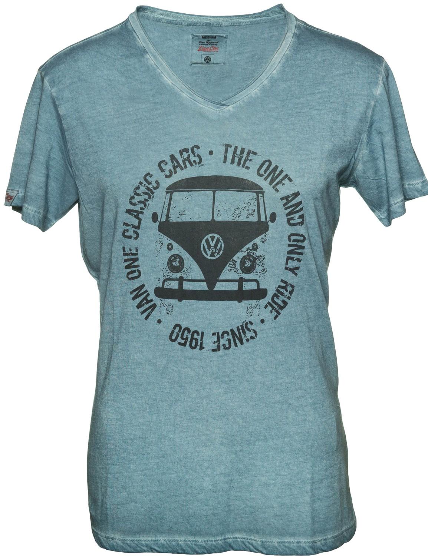 Herren T-Shirt VW Bulli BULLI FACE USED Indigo