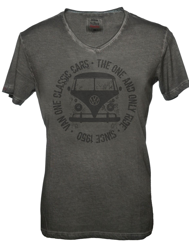 Herren T-Shirt VW Bulli BULLI FACE USED Black