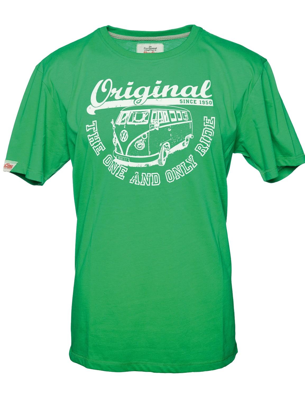 Herren T-Shirt VW Bulli ORIGINAL RIDE Green White Gr.L