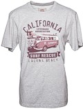 Herren T-Shirt VW Bulli LAGUNA BEACH LightGrey Bordeaux Gr.XL